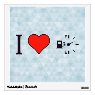 I Love Fuel Counters Wall Decal