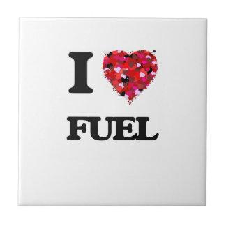 I Love Fuel Small Square Tile