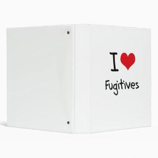 I Love Fugitives Vinyl Binders