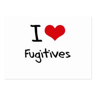 I Love Fugitives Business Card Templates