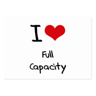 I love Full Capacity Large Business Cards (Pack Of 100)