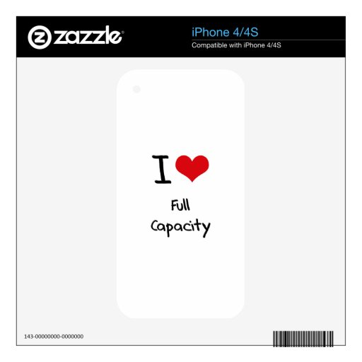 I love Full Capacity Decals For iPhone 4