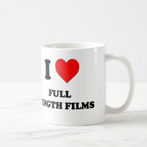 I Love Full Length Films Classic White Coffee Mug