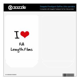 I Love Full Length Films FreeAgent GoFlex Decals