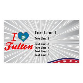 I Love Fulton, South Dakota Double-Sided Standard Business Cards (Pack Of 100)