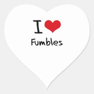 I Love Fumbles Sticker