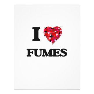"I Love Fumes 8.5"" X 11"" Flyer"