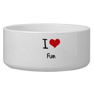 I Love Fun Dog Water Bowl
