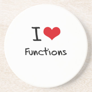 I Love Functions Drink Coasters