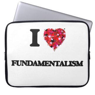 I Love Fundamentalism Laptop Computer Sleeve