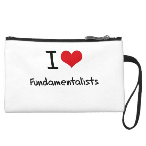 I Love Fundamentalists Wristlet Clutches