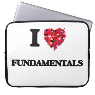 I Love Fundamentals Laptop Sleeve