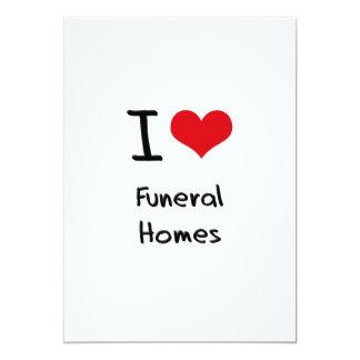 I Love Funeral Homes Personalized Invite