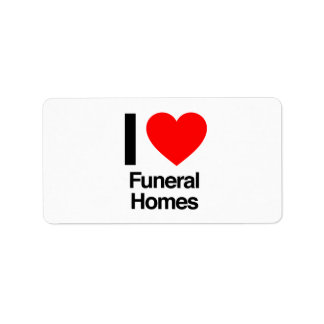 i love funeral homes custom address label