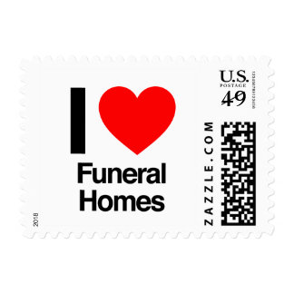 i love funeral homes postage