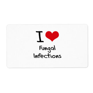 I Love Fungal Infections Shipping Label