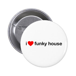 I Love Funky House Button
