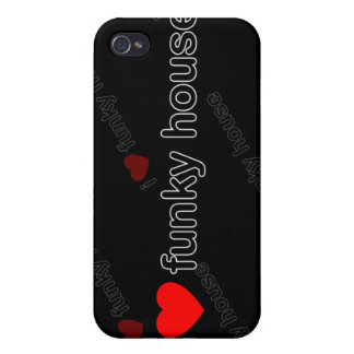 I Love Funky House DJ and Music i Cover For iPhone 4