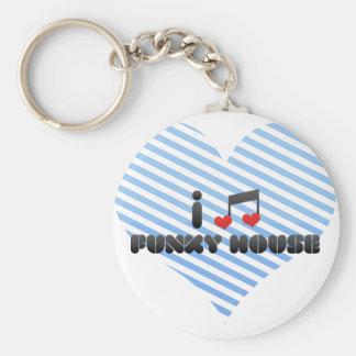 I Love Funky House Keychains