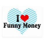 I Love Funny Money Postcard
