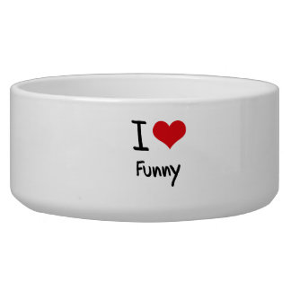 I Love Funny Pet Water Bowls