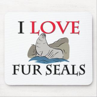 I Love Fur Seals Mouse Mats