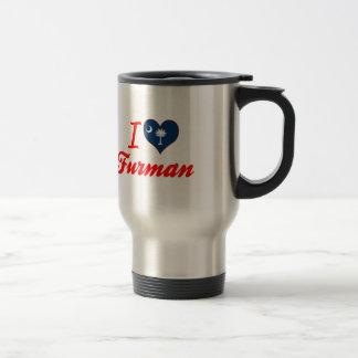 I Love Furman, South Carolina 15 Oz Stainless Steel Travel Mug