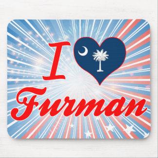 I Love Furman, South Carolina Mouse Pad