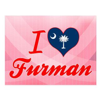 I Love Furman South Carolina Postcards