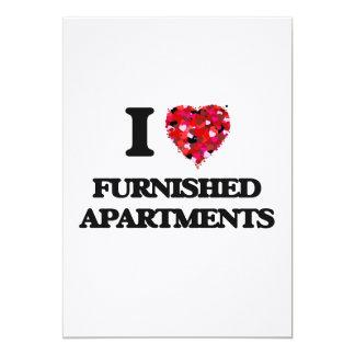 I Love Furnished Apartments 5x7 Paper Invitation Card