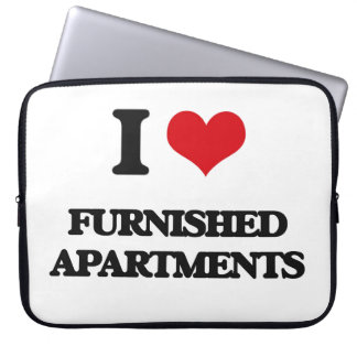 I love Furnished Apartments Computer Sleeve