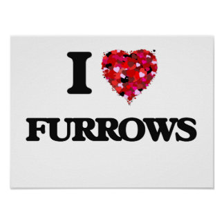 I Love Furrows Poster