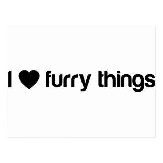 I Love Furry Things Postcard