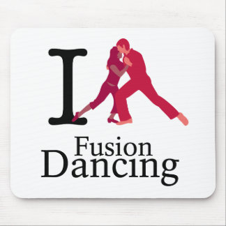 I Love Fusion Dancing Mouse Pad