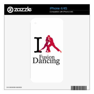 I Love Fusion Dancing Decals For iPhone 4