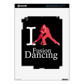 I Love Fusion Dancing iPad 3 Skins