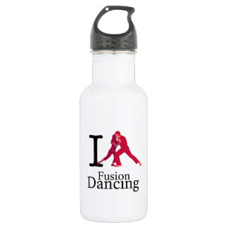 I Love Fusion Dancing Stainless Steel Water Bottle