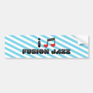 I Love Fusion Jazz Bumper Stickers