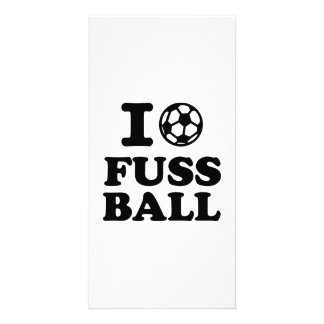 I love Fussball soccer Photo Greeting Card