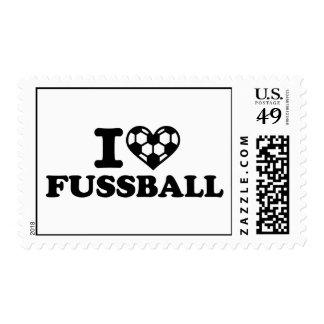 I love Fussball soccer Postage Stamps