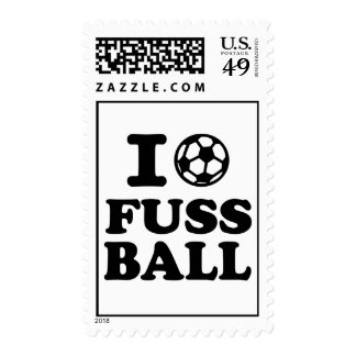 I love Fussball soccer Postage Stamp