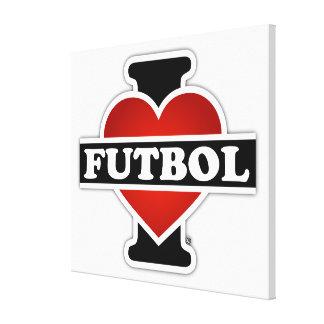 I Love Futbol Canvas Print