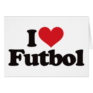 I Love Futbol Card