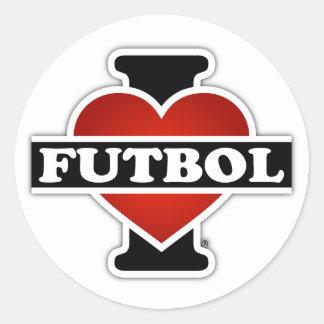 I Love Futbol Classic Round Sticker