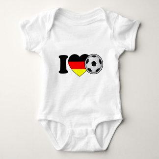 """""""i Love fútbol"""" Con corazón popular de alemania - Body Para Bebé"""