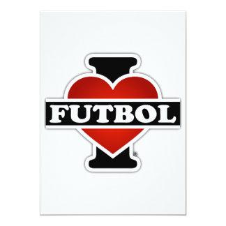 I Love Futbol 5x7 Paper Invitation Card