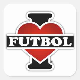 I Love Futbol Square Sticker