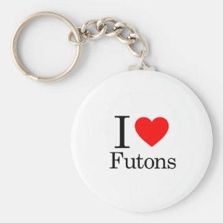 I Love Futons Keychain