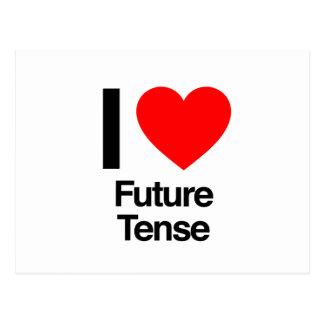 i love future tense postcard