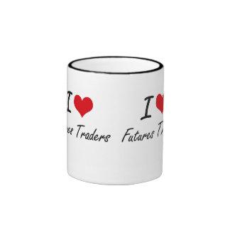 I love Futures Traders Ringer Coffee Mug